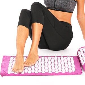 Image 4 - Tapis dacupression chaud pour Yoga, matelas avec picots et oreiller de Massage, soulage les douleurs de dos, Acupuncture, 26*17 pouces