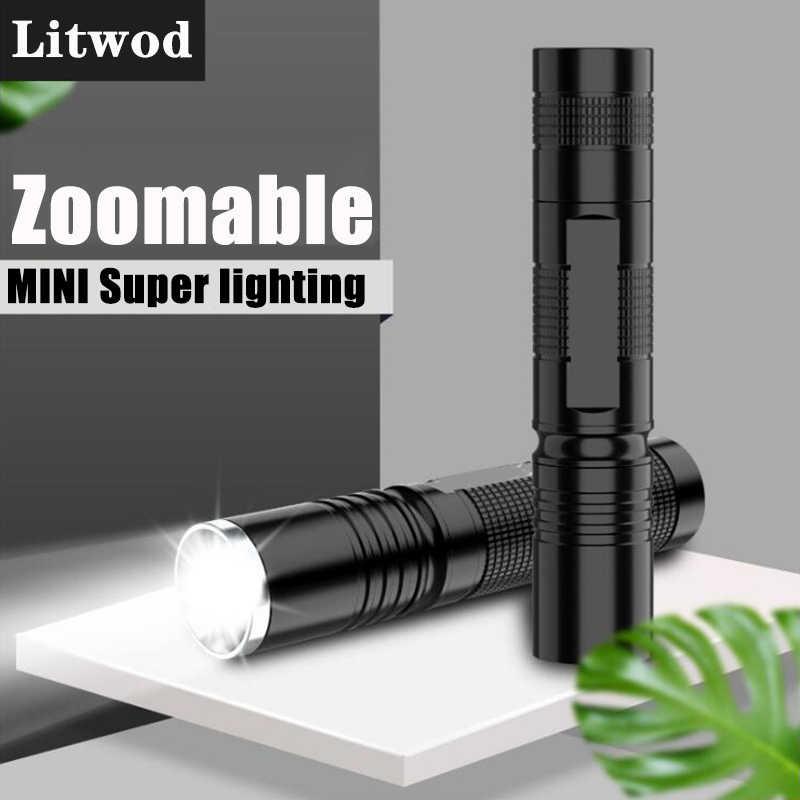 L2 T6 פנס LED Bike Light זום פוקוס לנטרן לפיד מתכוונן אלומיניום Power 18,650 Litwod סוללת Waterproof