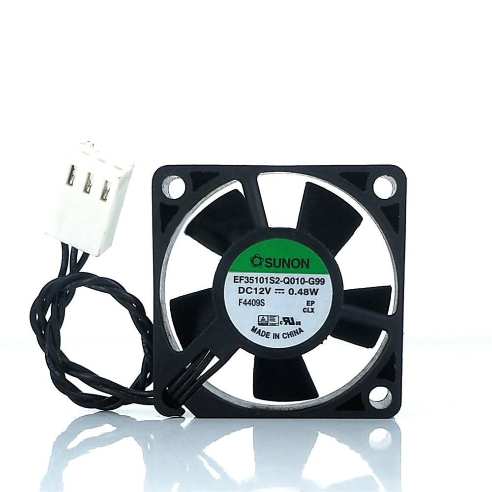 SUNON Cooling Fan EF35101S2-Q010-G99 DC12V 0.48W 3.5CM For ASUS TUF SaberTooth Z87 Cooler Heat Sink PC Laptop