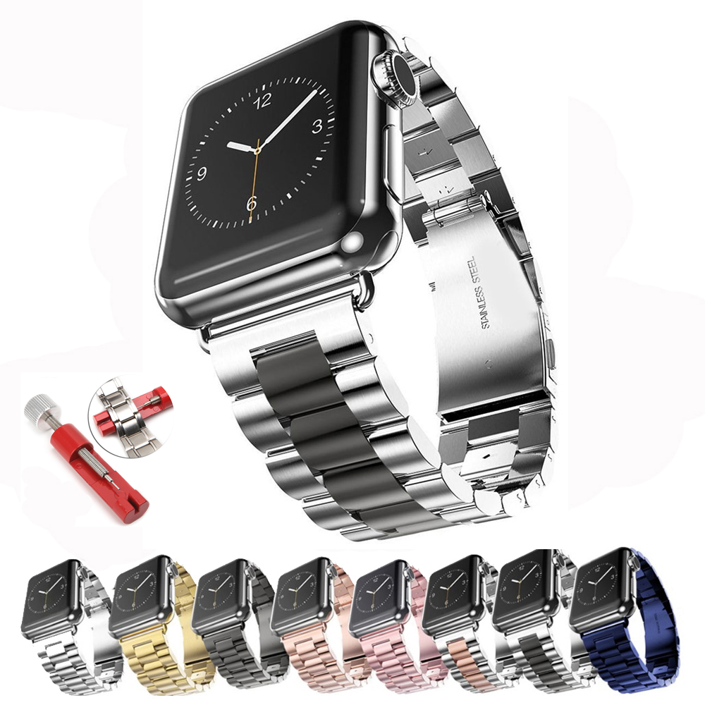 Stainless Steel Strap For Apple Watch Band 44 Mm 40mm IWatch Band 42mm/38mm Metal Bracelet Apple Watch 5 4 3 2 1 Accessories