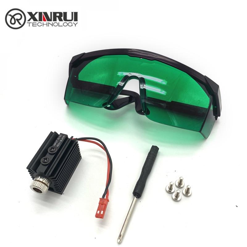 5V 1000MW 1500MW 405nm Blueviolet Light Laser Head Laser Module Engraver Accessory For CNC Laser Carving Engraving Machine