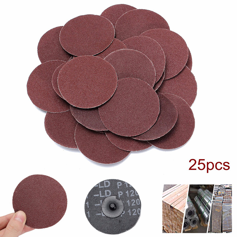 25pcs 120 Grit Sanding Disc R Type Discs Abrasive Roloc Disc Polishing Tool For Surface TP899