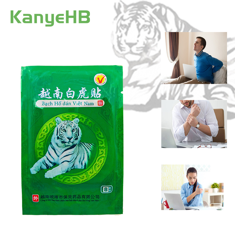 8pcs Vietnam White Tiger Balm Medical Plaster Rheumatoid Arthritis Joint Pain Relief Neck Back Body Muscle Patches Sticker H003