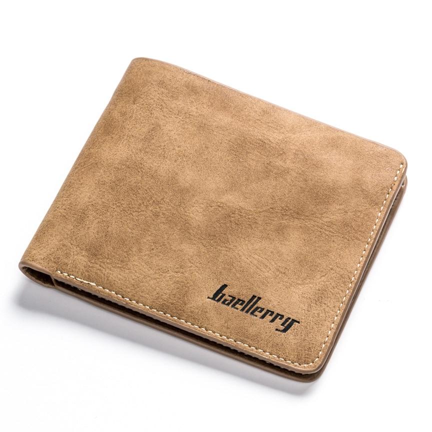 High Quality Men's Retro Matte PU Leather Men Wallets Wholesale Short Leather Wallets Card Holders Purse For Men