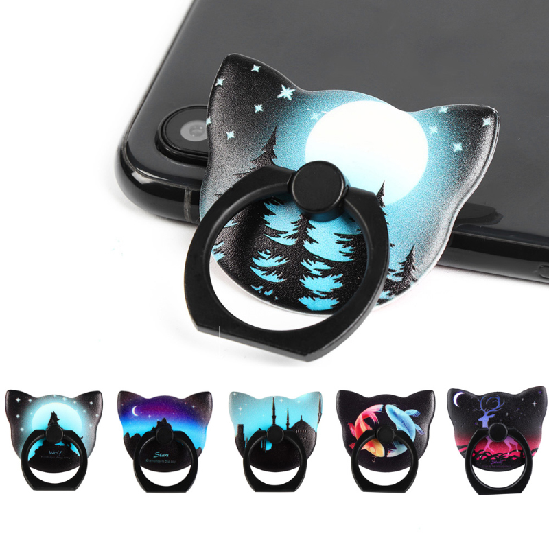 Luminous Phone Holder Universal Mobile Phone Finger Ring Holder Flexible Phone Stand For Samsung Galaxy Note Huawei For Iphone