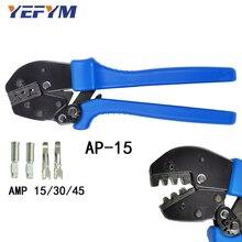 Alicate de friso AP 15 para conectores, ferramentas elétricas para conectores de baixa tensão amp 15/30/45