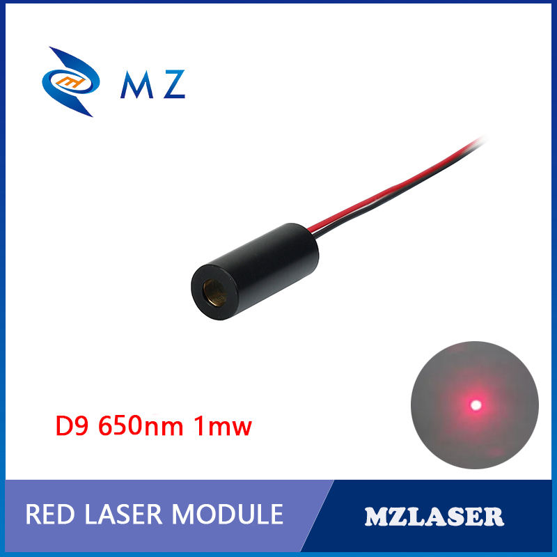 Standard 9mm 650nm1mw Class II Industrial APC Drives Red Dot Laser Module