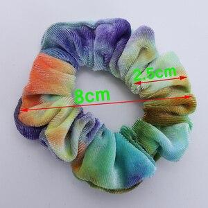Image 3 - 6PCS Neue Mädchen Tie gefärbt Samt Haarband Kleine Größe Elastische Haar Bänder Kinder Haar Halter Haar Zubehör geschenk