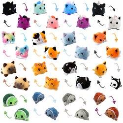 Doppelseitige Reversible Katze Hund Kinder Weichen Geschenk Plushie Tiere Einhorn Doppelseitig Flip Puppe Spielzeug Peluches Für pulpos Plüsch Spielzeug
