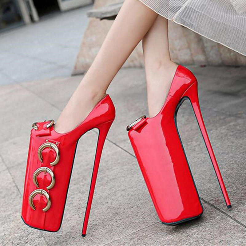 Super <font><b>30cm</b></font> high <font><b>heel</b></font> pumps high quality women shoes waterproof 20cm platform high <font><b>heel</b></font> pump large size 35-46 shoes show catwalk image
