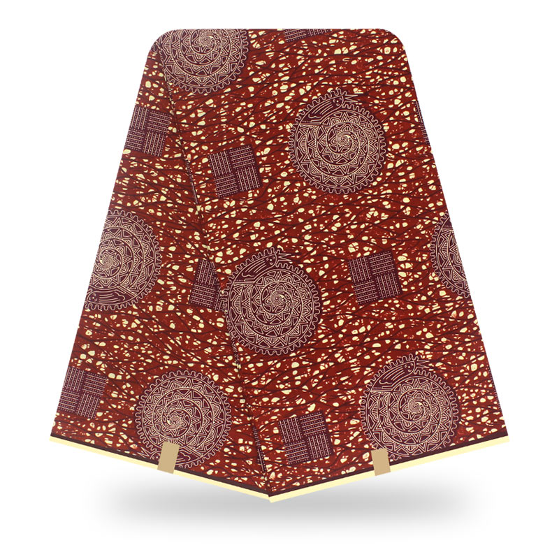 2020 African High Quality Nigeria Anakra Cotton Material Guaranteed Real Wax Fabric African Pagne Nederlands Wax Fabric