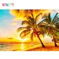 MTMETY 3D Natur Wandbild Tapete Natur Landschaft Für Wände Sunset Meer Kokos Strand HD Hintergrund Wand Wohnzimmer Wand Papiere