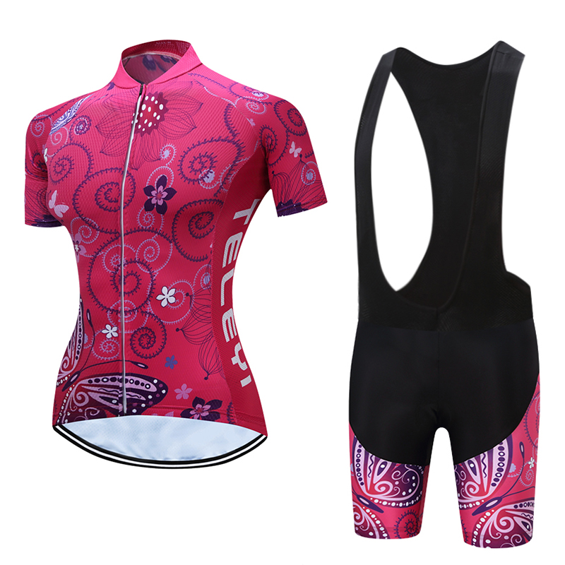 Lady Cycling Jersey short Sleeve set Women Cycling clothing Fashion leisure dress Bike Cycle Shirt Lady Breathable Quick-Dry