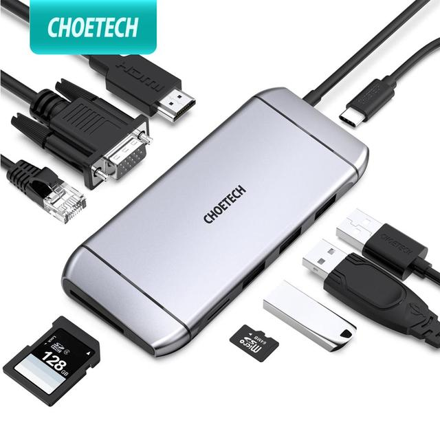 Convertisseur dextension, lecteur de cartes Sd 3.0, adaptateur daccueil Type C vers HDMI, HUB pour SD, TF, lecteur de cartes, Notebook, MacBook, Smartphone