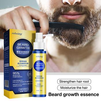 Men Beard Growth Essence  Enhancer Organic Beard Wax Balm Avoid Beard Natural Hair Loss Products Leave-In Conditioner Groomed Gr 1