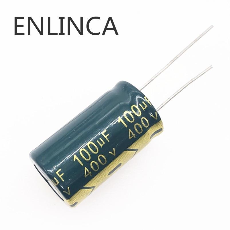 2pcs/lot 100UF 400V 100UF Aluminum Electrolytic Capacitor Size 18*30 T20 20%