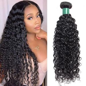 La srta. LISA 28 30 pulgadas extensiones de cabello humano de la onda de agua del pelo paquetes de extensiones de cabello peruano extensiones de cabello de Color Natural