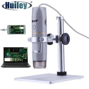 Image 1 - Caméra vidéo numérique portative du Microscope 5.0MP dusb de lumière polarisée par 500x avec 8LED pour lessai de semi conducteur