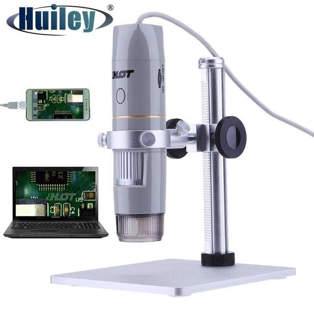 Caméra vidéo numérique portative du Microscope 5.0MP dusb de lumière polarisée par 500x avec 8LED pour lessai de semi conducteur