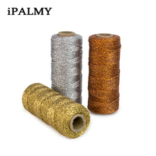 ipalmay 2pcs Bakers Twine Gold Silver Rose Gold Shiny Rope T