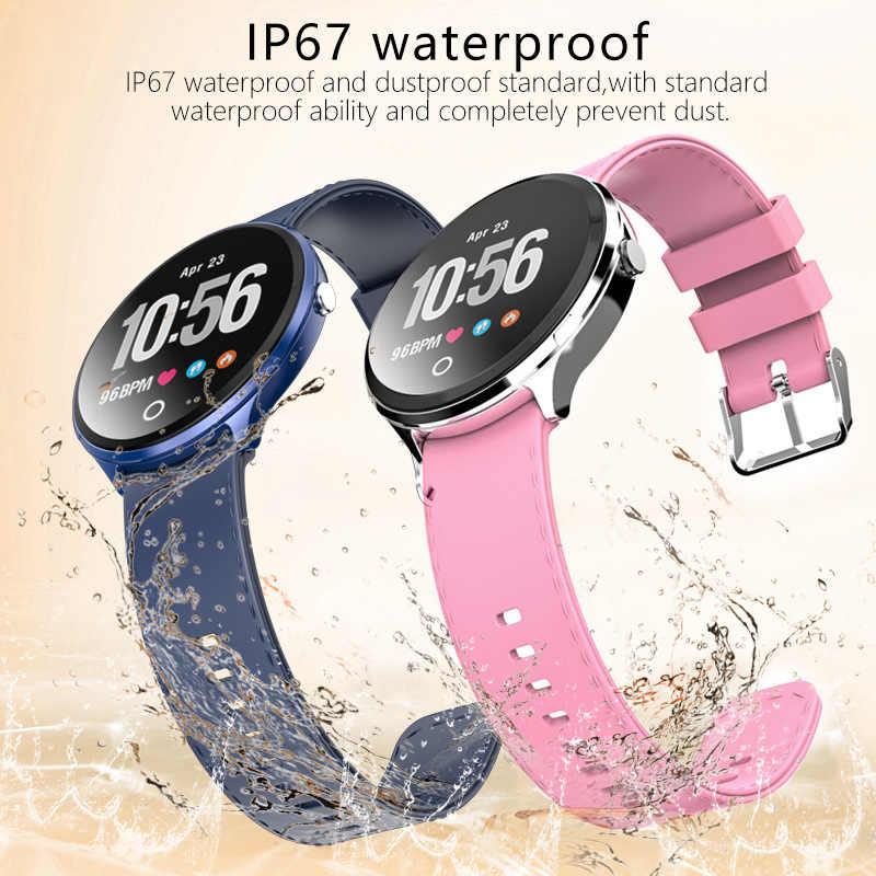 V12 Bluetooth Mesaj Hatırlatmak akıllı saat Kadın Smartwatch IP67 Su Geçirmez Sağlık Spor Kalp Hızı Erkekler ios için akıllı saat Android