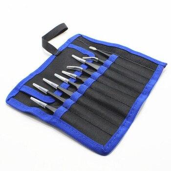 1.5mm Tweezers Tools Kit 9 Pcs Precision Stainless Steel Industrial Anti-static Tweezers Repair Phone Clocks Watches Hand Tool