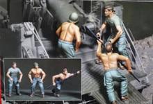 1/35 Resin Figure Model Kit Unassambled Unpainted//1015(3 FIGURES)