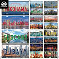 Декор Putuo, знаменитая городская Лицензионная пластина, металлическая жестяная винтажная туристическая табличка, сувенир для клуба, дома, сп...