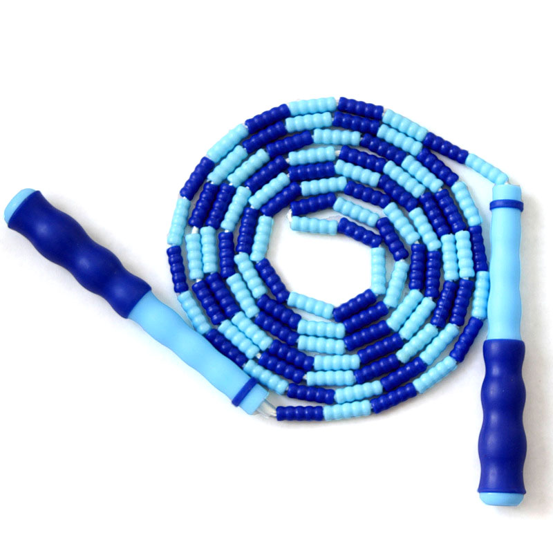 Plastic Beaded Practocal Jump <font><b>Rope</b></font> WIth Anti-slip <font><b>Handle</b></font> Lightweight Adjustable Jump <font><b>Rope</b></font> Fitness <font><b>Rope</b></font> for Adult Kid Chidren* image