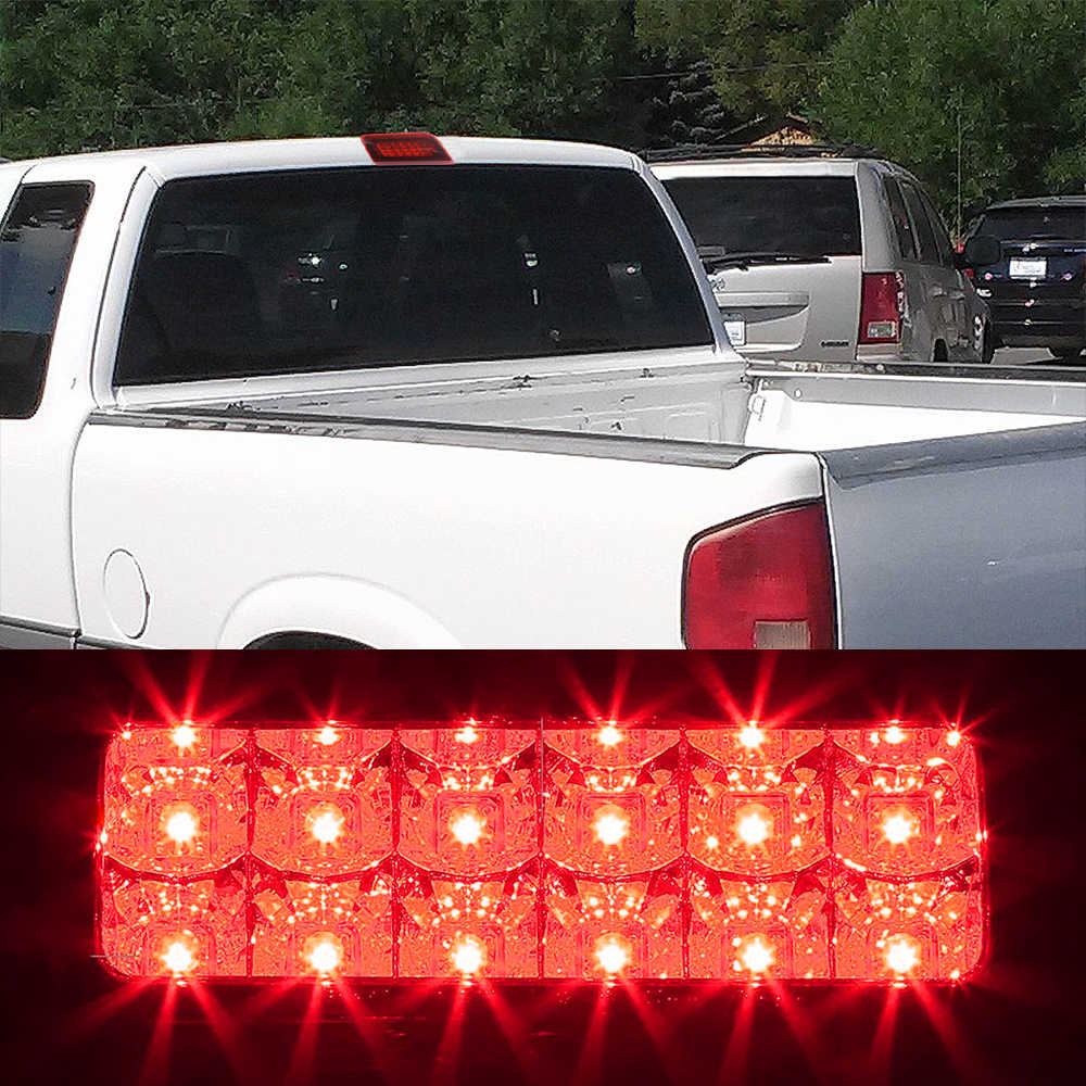 Urite2GO 3rd Third Brake Light Smoke Lens Extended Cab Only Compatible with 1994-2003 Chevy S10 GMC Sonoma High Mount Stop Lamp Assembly