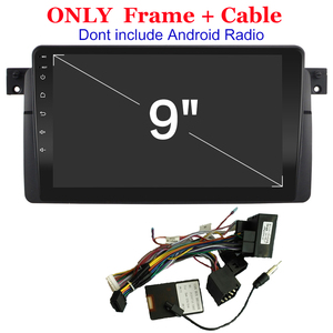 2Din DVD Stereo Panel Trim For BM W 3 Series E46 Fascia Radio Installation Frame Multimedia Video Player Panel Fascias