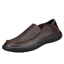 Genuine Leather middle-aged mens shoes new mens