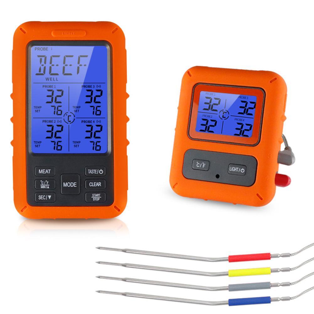 Беспроводной цифровой термометр для мяса, цифровой прибор для приготовления пищи, измерения температуры, приемник для барбекю, гриля, кухни... - 6