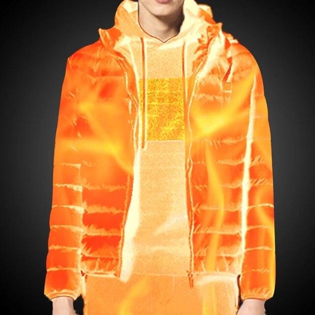 Мужская/женская теплая куртка с подогревом 11-ти областей 2