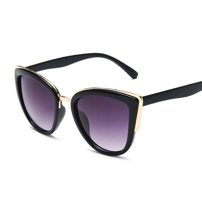 Vintage Cat Eye Sunglasses Women Fashion Brand Designer Sunglasses Female Sexy Leopard Cateyes Black Gradient Oculos De Sol