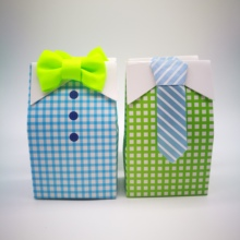 10pcs Gift Box Favors Candy Birthday With White Ribbons Baby Shower Wedding Party Supplies