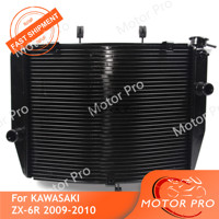 Motorcycle Radiator For Kawasaki Ninja ZX6R 2009 2010 Engine Water Cooling Cooler Accessories ZX 6R ZX 6R Motorbike Parts