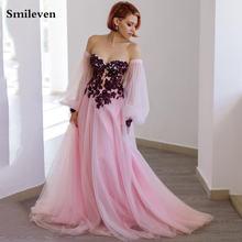 Розовые кружевные вечерние платья smileven с вырезом сердечком