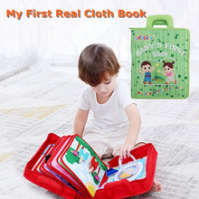 Baby Toys 3D Montessori Books Toys For Babies Educational New Born Cloth Book For Infants Early Learning  Intelligence Toy