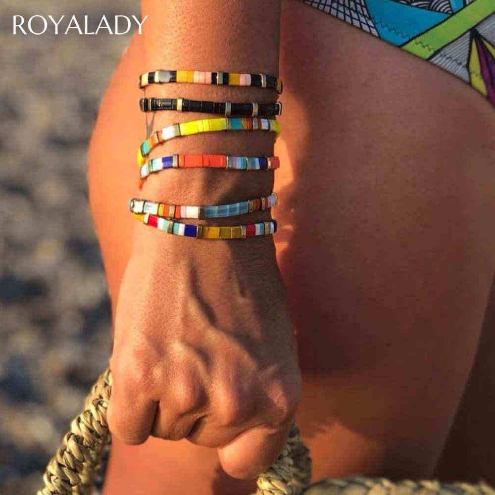 חדש Boho צבעוני Tila חרוז מיוקי צמידי עבור נשים בוהמי קיץ בעבודת יד תכשיטי שיק קסמי צמיד Pulseira Mujer מתנה