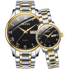 Шоутайм часы для мужчин кварцевые наручные часы люксовый бренд золотые любовника пару часы водонепроницаемые нержавеющей стали световой мужские часы