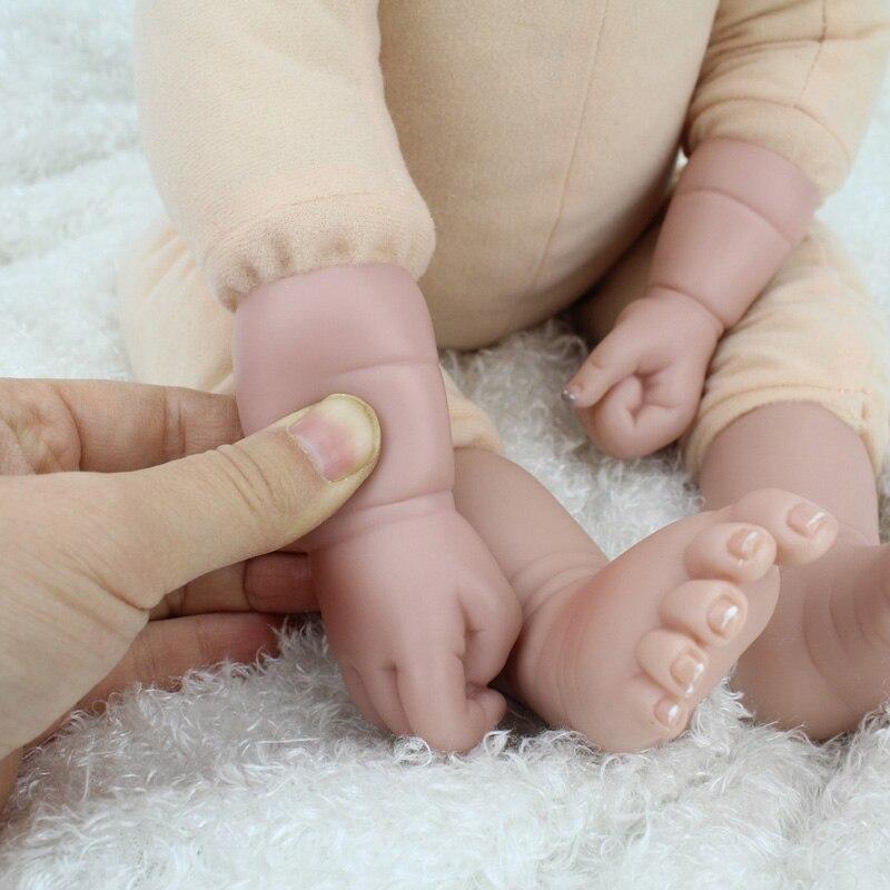 NPK Lol poupées Surprise jouets pour filles enfants bébé poupée jouets Silicone poupées renaître bébé Silicone Inteiro corps entier Bjd - 5