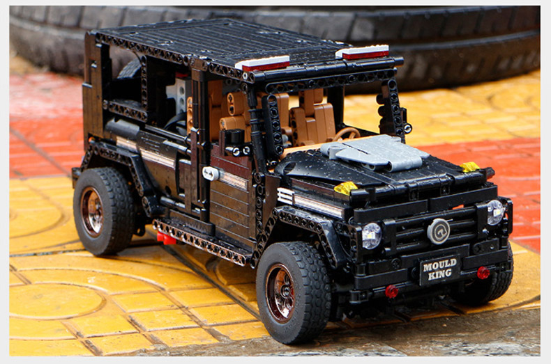 MOULD KING MOC 20100 Compatible 13070 Technic  Benz SUV G500 AWD Wagon Offroad Vehicle Building Block 19