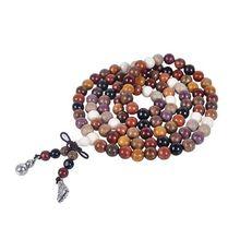 Tibetano 108 pçs 8mm jacarandá oração contas buda mala budista pulseira colar
