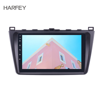 Harfey Android 9.0 /9.1 Car GPS Auto Radio For Mazda 6 Rui wing 2008 2009-2014 9'' 2DIN Multimedia Player Support Rear Camera image