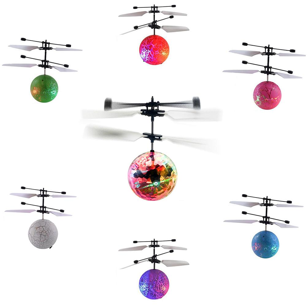 New Arrival Magicing Flying Ball Helicopter Colorful Flashing LED Light Infraredes Sensores Ball Aircraft Children Kids Toys