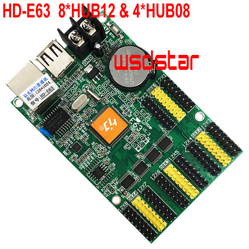 HUIDU HD 2020 HD-E63 HD E63 8 * HUB12 & 4 * HUB08 512*128 P10 P4.75 одноцветная светодиодная карта дисплея