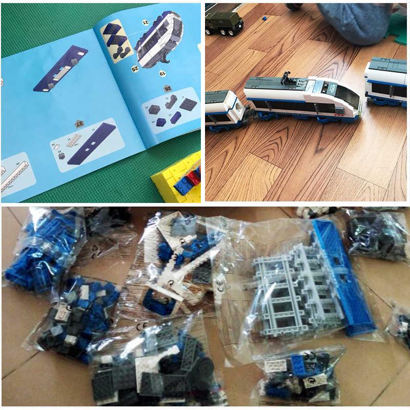 طقم مكعبات البناء من AUSINI متوافق مع مجموعة قضبان النقل في المدينة ليجو مجموعات كتل ألعاب تعليمية للأطفال