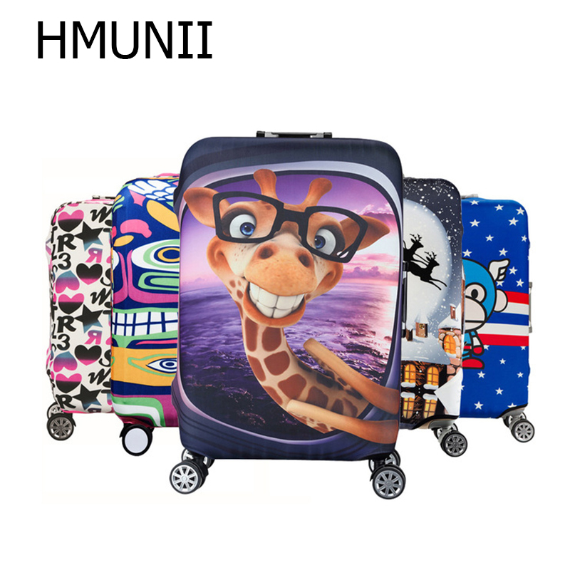Cute 3D Good Night Cute Animal Pattern Luggage Protector Travel Luggage Cover Trolley Case Protective Cover Fits 18-32 Inch