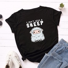 Women T Shirt Summer Cotton Plus Size S-5XL Cute Cartoon She